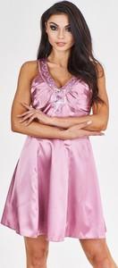 Fioletowa sukienka Fokus mini rozkloszowana