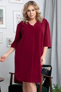 Sukienka KARKO z dekoltem w kształcie litery v z długim rękawem w stylu casual