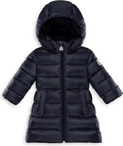 Granatowa kurtka dziecięca Moncler z tkaniny