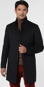 Niebieski płaszcz męski Strellson z kaszmiru