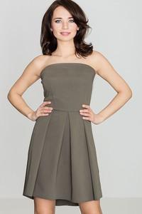 Zielona sukienka sukienki.pl rozkloszowana bez rękawów