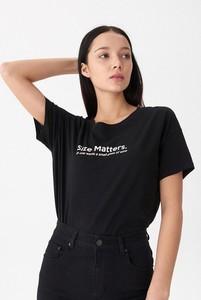 Czarny t-shirt House z okrągłym dekoltem