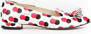 Baleriny Zapato z płaską podeszwą w stylu glamour