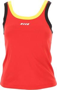 Czerwona halka MSGM w sportowym stylu