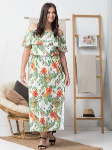 Sukienka KARKO maxi z krótkim rękawem hiszpanka