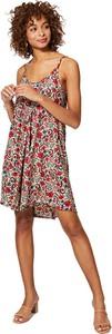 Sukienka Aller Simplement z okrągłym dekoltem z szyfonu