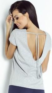 T-shirt Ivon z bawełny z krótkim rękawem