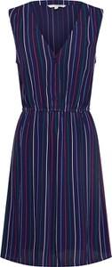Sukienka Tom Tailor Denim mini bez rękawów w stylu casual