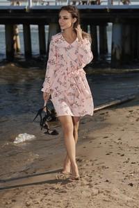 Różowa sukienka Lemoniade z dekoltem w kształcie litery v