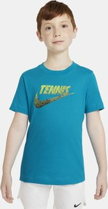 Niebieska koszulka dziecięca Nike dla chłopców z krótkim rękawem