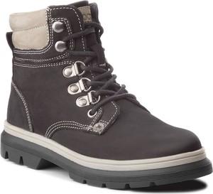 Brązowe buty trekkingowe dziecięce Lasocki Young ze skóry