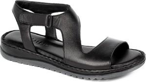 Czarne sandały Ravini w stylu casual z klamrami