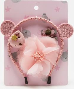 Sinsay - Zestaw: spinka do włosów, gumka do włosów i opaska na włosy - Różowy