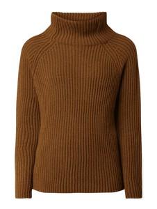 Brązowy sweter Drykorn w stylu casual z wełny