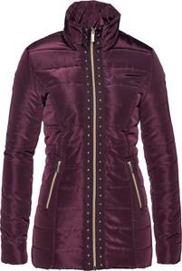 2ff1a4ad835b0 Różowa kurtka bonprix bpc selection krótka w rockowym stylu