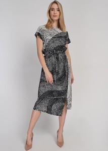 Sukienka Cotton Club z krótkim rękawem asymetryczna