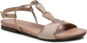 Sandały Lasocki ze skóry z płaską podeszwą