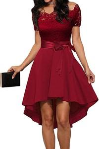 Sukienka Arilook asymetryczna z dekoltem w kształcie litery v