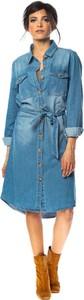 Niebieska sukienka Special Jeans midi