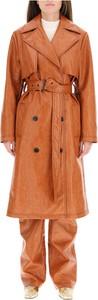 Brązowy płaszcz MSGM w stylu casual