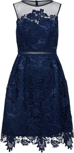 Granatowa sukienka Chi Chi London na co dzień mini