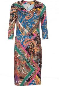 Sukienka VISSAVI z dekoltem w kształcie litery v oversize w stylu klasycznym