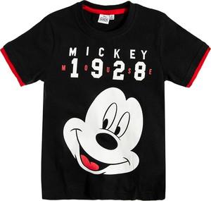 Czarna koszulka dziecięca Odzież Licencyjna z krótkim rękawem