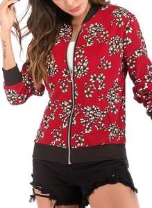 Czerwona kurtka Cikelly w stylu casual