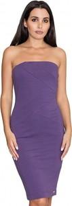 Fioletowa sukienka Figl midi bez rękawów w stylu casual