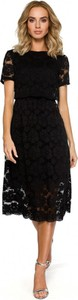 Czarna sukienka MOE z tkaniny