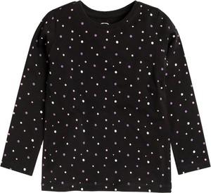 Czarna bluzka dziecięca Cool Club z bawełny z długim rękawem