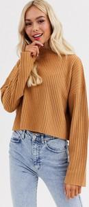 Brązowy sweter Brave Soul