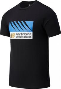 T-shirt New Balance z nadrukiem w młodzieżowym stylu z krótkim rękawem