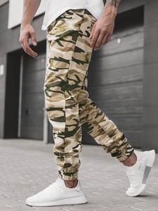 Zielone spodnie ATHLETIC z jeansu w militarnym stylu