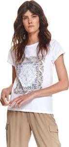 T-shirt Top Secret z okrągłym dekoltem z bawełny