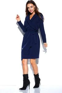 Niebieska sukienka Lemoniade mini z długim rękawem