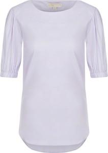 Fioletowa bluzka Michael Kors z krótkim rękawem w stylu casual