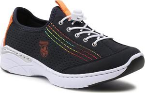 Czarne buty sportowe Rieker sznurowane