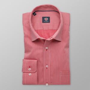 Różowa koszula Willsoor z bawełny z klasycznym kołnierzykiem