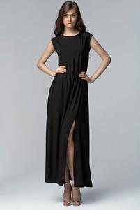 Sukienka Nife maxi z okrągłym dekoltem