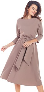 Sukienka Awama w stylu casual z długim rękawem