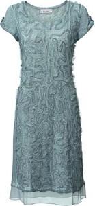 Błękitna sukienka linea tesini by heine w koronkowe wzory na co dzień