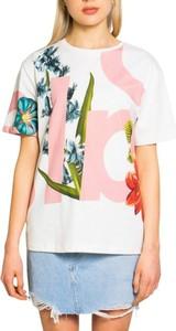 Bluzka Desigual z bawełny z krótkim rękawem w młodzieżowym stylu