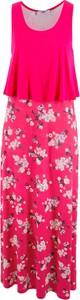 Różowa sukienka bonprix bpc bonprix collection bez rękawów maxi