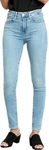 Niebieskie jeansy Levis w street stylu z bawełny