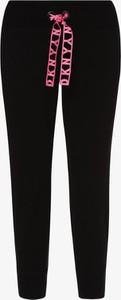 Czarne spodnie sportowe DKNY z dresówki