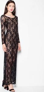 Sukienka Venaton dopasowana z okrągłym dekoltem maxi