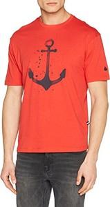 Pomarańczowy t-shirt Armata Di Mare z krótkim rękawem