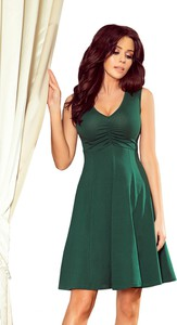 Zielona sukienka NUMOCO z dekoltem w kształcie litery v bez rękawów