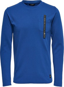 Niebieski sweter Only&sons w stylu casual